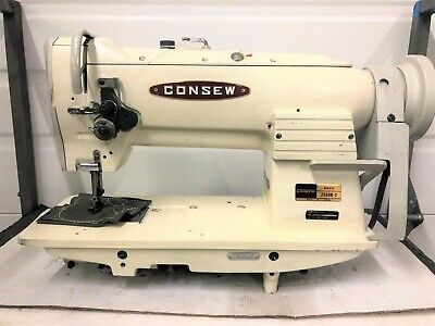 Consew 255Rb-2  Walking Foot  Big Bobbin  Reverse Industrial Sewing Machine