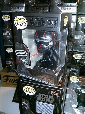 Funko Pop *FREE Protector* STAR WARS Kylo Ren #308 Lights & Sound Bobble-Head
