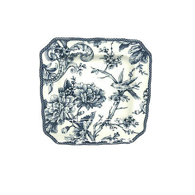 222 Fifth ADELAIDE-BLUE & WHITE Square Salad Plate