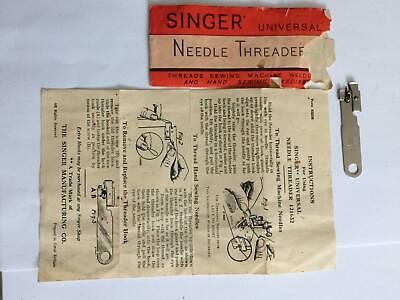 Singer Universal Vintage sewing machine Needle Threader 121632 with instructions
