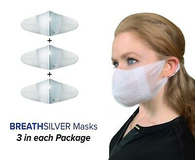 BREATH Fit Nano Silver Anti Microbial Mask - 1 Pack (3 Masks per Pack)