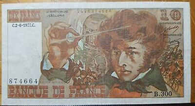 "France, 1977, 10 Francs,  UNCIRCULATED, ""BERLIOZ"" KM:150c"