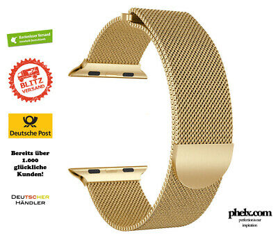 Apple Watch SERIES 5 (44mm) MILANAISE Armband Gold | Milanese Band