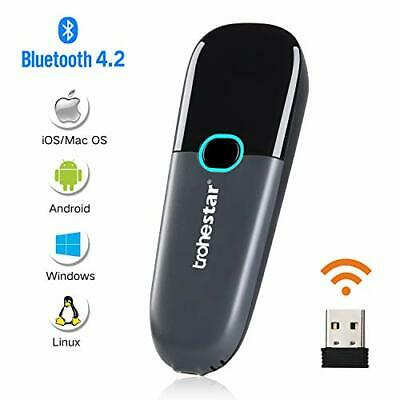 Trohestar Nuberopa N3 Mini Wireless Barcode Scanner 1D Compatible with Bluetooth