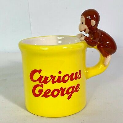 Curious George Good Little Monkey Mug w Monkey Handle & Banana Inside 1997 HMCO