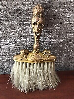 Antique Victorian Lint Brush Carved Figural Vanity (9-9A)