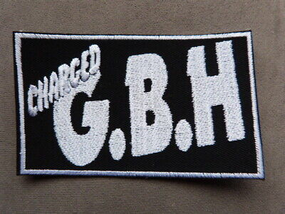 Charged GBH Embroidered Iron-On Punk Rock Rare Patch Badge