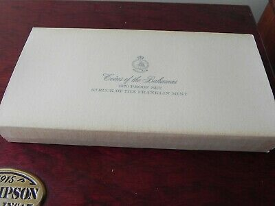 1970 Silver Bahamas Nine Coin Collector Proof Set Franklin Mint Km# Ps 3