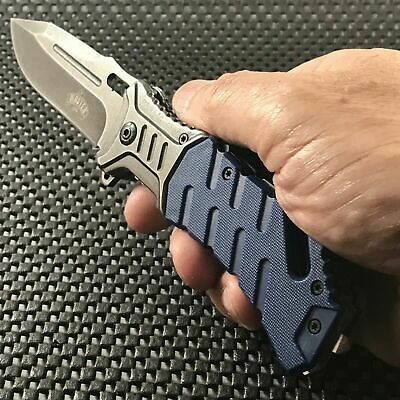 """8"""" MASTER USA ASSISTED OPEN TACTICAL MILITARY FOLDING POCKET KNIFE Blade Spring"""