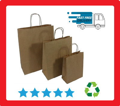 Bags With Twisted Handles, Brown Paper Bags With Twisted Handles Kraft Material