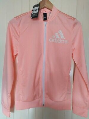 Girls Adidas Pink Sports Jacket Tracksuit Top Zip up Age 13-14 Yrs New Tags