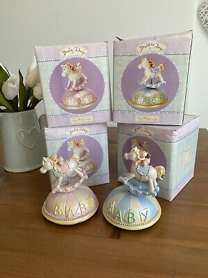 Job Lot Regency Baby Days Rocking Horse Blue Pink Gifts Christenings New Baby