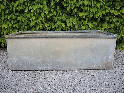 Weathered Vintage  Galvanised Trough Garden Planter 123 cm long (448)