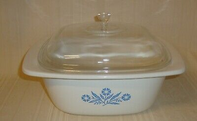 Corning Ware Blue Cornflower 5 qt. Dutch Oven Baking Casserole P-34-B With LID