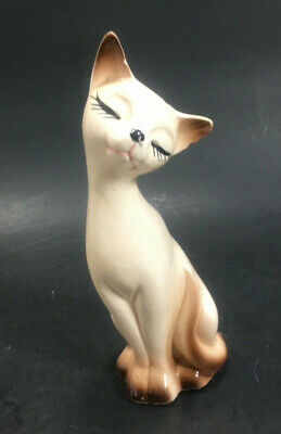 Vintage Mid Century Siamese Cat Salt Or Pepper Shaker  Japan