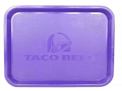 Taco Bell Serving Tray Plastic Fast Food Used Restaurant Tray 2005 Purple