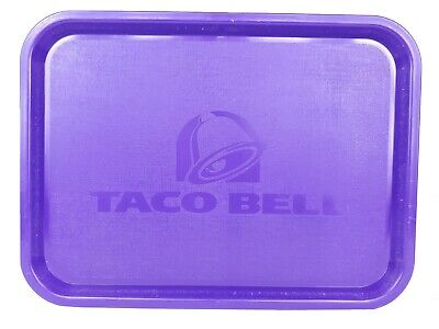 Taco Bell Serving Tray Plastic Fast Food Used Restaurant Tray 2006 Purple