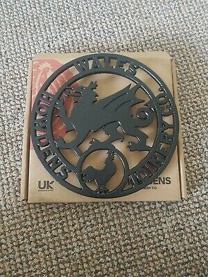 Black Cast Iron Trivet Stand By Howdens Joinery & Co Welsh Dragon NEW
