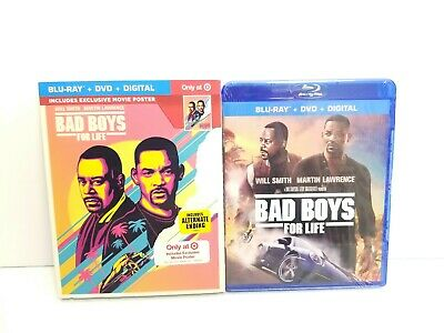 Bad Boys For Life Target Exclusive (Blu-ray, DVD, Digital) w/ Slipcover & Poster
