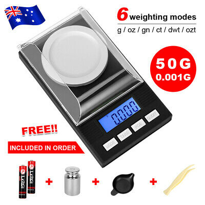 50g 0.001g Digital Scales Pocket Balance Gram Jewellery High Precision Weight AU