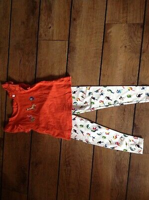 New Next Leggings With Parrots etc With Matching Top Age 4-5