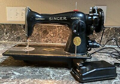 Singer 15-91 Sewing Machine 1949 With Foot Pedal Vintage Tested Works Pre-owned