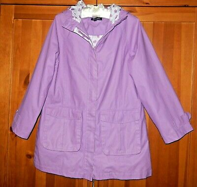 Peter Storm Lilac Hooded Raincoat  Age 11-12 Years - Ex Cond