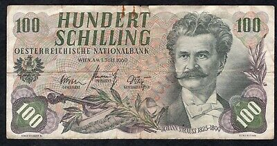 100 Schillings From Austria 1960