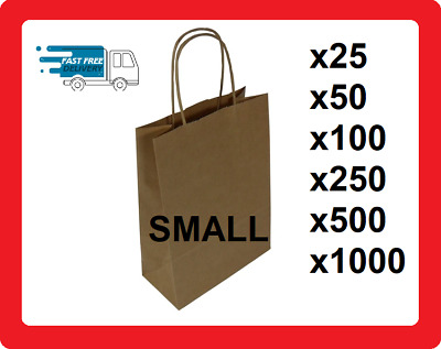 Small Twisted Handle Paper Bags | Bags With Twisted Handles Brown Paper Gift bag