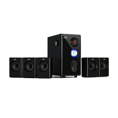 Home cinema 5.1 Speaker System Surround sound 75W RMS Subwoofer Bluetooth USB SD