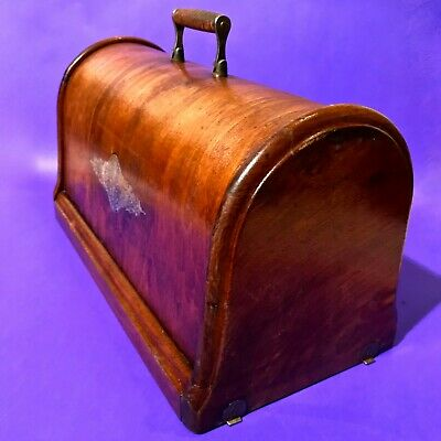 1890 Original Wood Cover Coffin Top Bonnet Early Singer Models Sewing Machines
