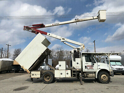 2008 International 4300 Hi Ranger 60' Forestry Chipper Dump Bucket Boom Truck