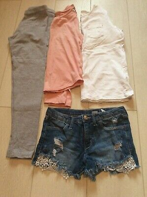 Girls Clothes Bundle Gap Fatface H&m Primark 10-11 Years Shorts Tops Leggings