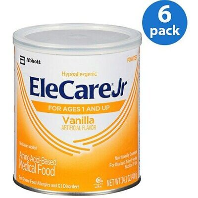 1 Case of (6) -- 14.1oz cans of  Elecare jr Vanilla flavored