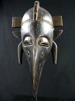 Art African - Awesome Mask Bird Koulango - Kulango Mask - 45,5 CMS