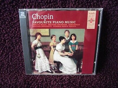 Frederic Chopin Favourite Piano Music 23 track double CD Rhondo 1995.