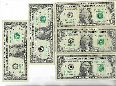 Rare US ☆ Dollar Bill Collectible Paper Money Small Size Note Collection Lot:16