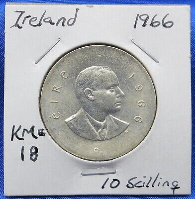 1966 Ireland 10 Scilling Silver 50th Anniversary Easter Rising, Padraig Pearse