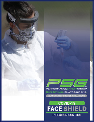 "FACE SHIELD • Full Coverage (11x12"") • PPE • Made n USA • Reusable • Case of 100"