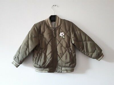 Next Girls Khaki Green Coat Age 2-3 Years