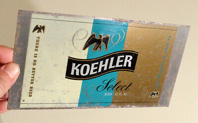 Koehler Select •Unrolled Flat Sheet• Flat Top Beer Can Erie Pennsylvania Jackson