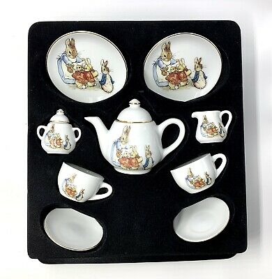 The World of Beatrix Potter Miniature Tea Set Reutter Porzellan 9 Pieces Germany