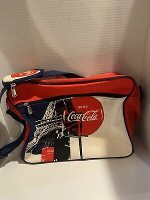 Coca-Cola messenger bag Eiffel Tower Buvez French blue red white