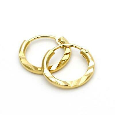 18k Gold Plated Plain Small Hoop Huggie Earrings for Girls