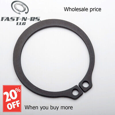 "External Retaining Ring / Snap Ring 1"" (Pack of 750) Black Phosphate Finish"