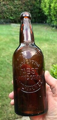 Pabst Brewing Company Very Early Milwaukee Beer Bottle Nice 1883