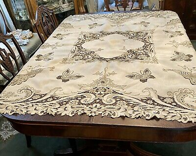 Gorgeous Antique Madeira Tablecloth