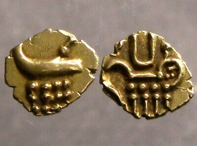 GOLD FANAM OF THE RAJAHS OF COACHIN INDIA______Stylized Boar & Stylized Lion