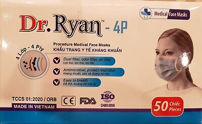 1 Box of 50 FACE MASKS 4-P SEALED BRAND NEW !