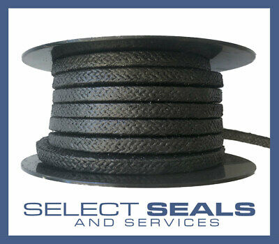 Braided Graphite Pump and Valve Gland Packing Style Select Seals Style 2501 8 M